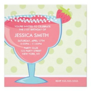 Funny 21st Birthday Party Personalized Invitations