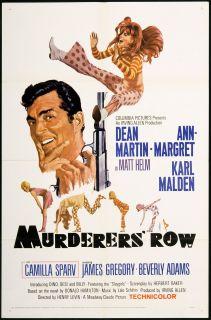 Murderers Row Original U s One Sheet Movie Poster