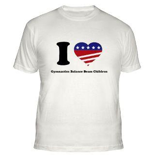 Love Gymnastics Balance Beam Children Gifts & Merchandise  I Love