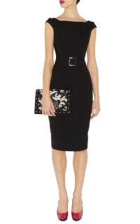 BNWT Karen Millen Black Dress with Lace DN086 Size 6