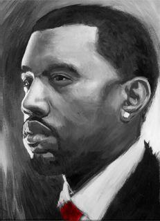 Kanye West Hip Hop Signed Art Painting Paper 16X24