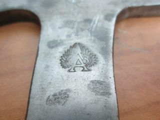 Two Unique Vintage Hatchet Heads One Has An A with Wings Logo