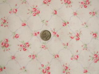 Antique French Pink Roses Kates Vintage Trellis Yd. Shabby Pink Chic