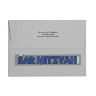 Coordinate your invitations for the Rock Star Bar Mitzvah with this