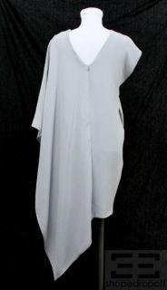 Karolina Zmarlak Grey Silk Asymmetrical One Shoulder Dress Size XS