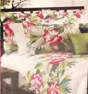 KAS AUSTRALIA KAHLU New Full / Queen Duvet Cover Beautiful Hawaiian