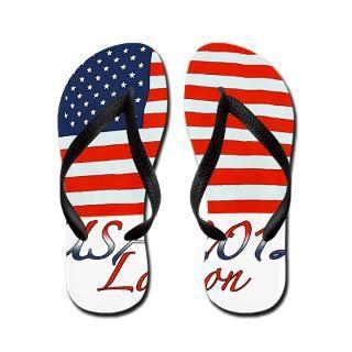 Flag Gifts  American Flag Bathroom  USA 2012 London 1 Flip Flops