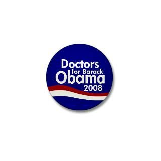 Doctors for Obama Mini Button  Barack Obama 2008 Campaign Retro