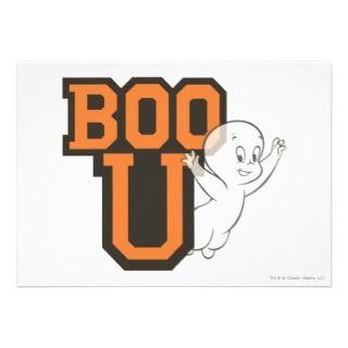 Casper Boo U Custom Invitations