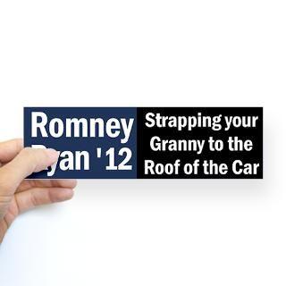 Granny Sticker (Bumper)  Romney Ryan Bumper Stickers 4 the Rich