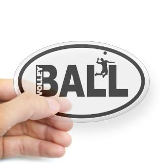 Volleyball Player Oval Decal for $4.25