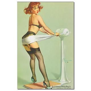 Elvgren Work Out Pinup Girl Poster 11 x 17