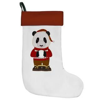 Friendly Panda Bear with Snowball Christmas Stocki for $14.50