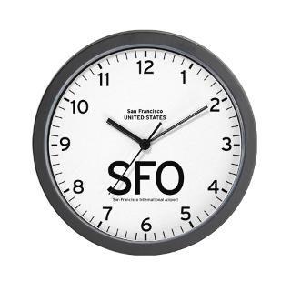 San Francisco International Airport Wall Clock for $18.00