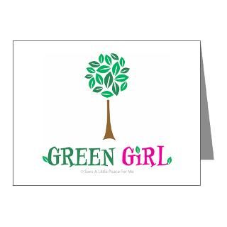 Day Gifts  Earth Day Note Cards  Green Girl Note Cards (Pk of 20