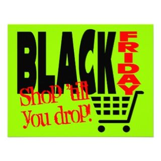 Black Friday Shopping Cart Custom Invites