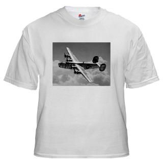 Mens Air Force B 24 Bomber White T Shirt for