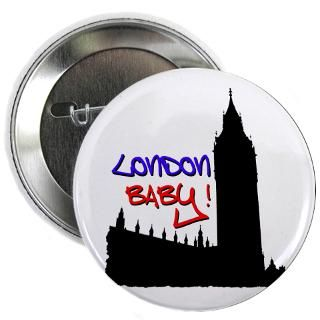 Gifts  Big Ben Buttons  London Baby Friends white 2.25 Button