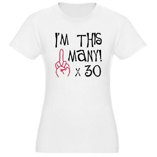 30, middle finger salute T Shirt
