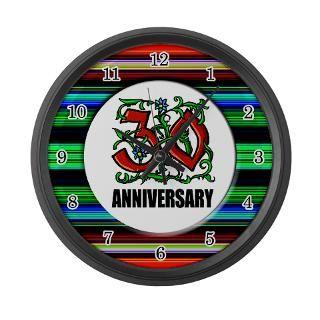 30Th Anniversary Clock  Buy 30Th Anniversary Clocks