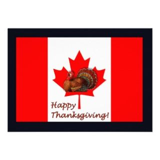Patriotic Canada day Canadian thanksgiving turkey Postage Stamp