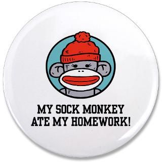 Sock Monkey Button  Sock Monkey Buttons, Pins, & Badges  Funny