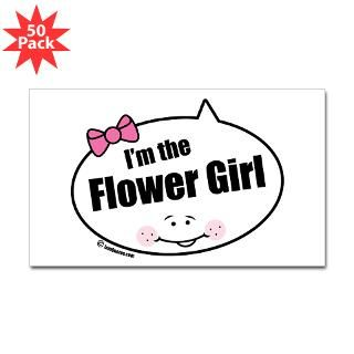 Flower Girl Rectangle Sticker 50 pk)