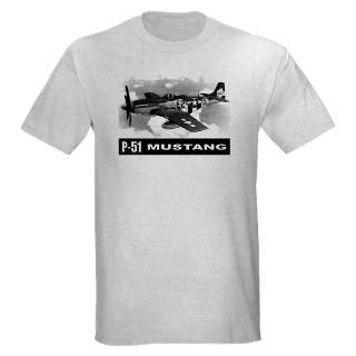 Air Force T shirts  P 51 Mustang Light T Shirt