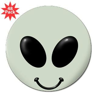 Alien Smiley Face 3 Lapel Sticker (48 pk)