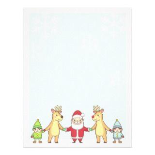 Letter Santa Letterhead, Custom Letter Santa Letterhead