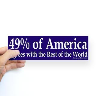 49% of America (bumper sticker)