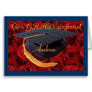 Graduation Cap Customize Name of Graduate Card