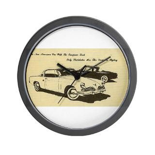 Two 53 Studebakers on Wall Clock for