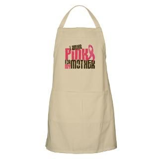 Wear Pink For My Mom Aprons  Custom I Wear Pink For My Mom Aprons