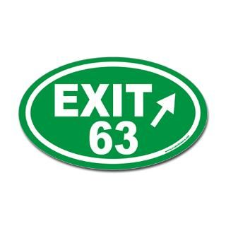 EXIT 63 Euro Oval Sticker  Our Newest Oval Stickers