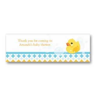 Rubber Ducky Baby Shower Favor Tag Business Card