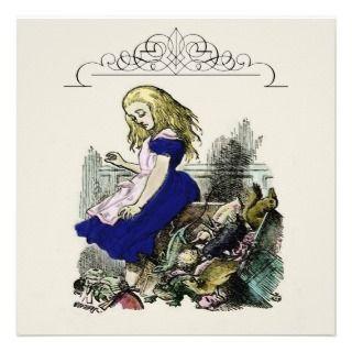 Curious Alice ~ Invitiations Wonderland Custom Invite