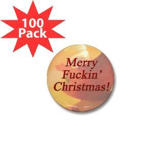 merry fuckin christmas mini button 100 pack $ 77 99