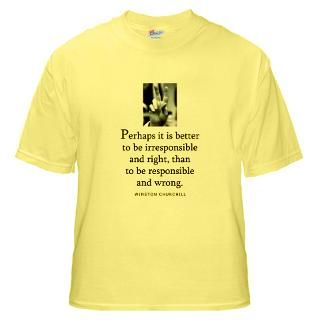 Winston Churchill quote on T Shirts, tops and giftware