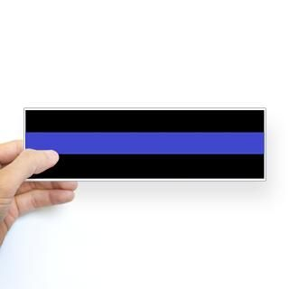 Police Officer Thin Blue Line Sticker (Bumper)
