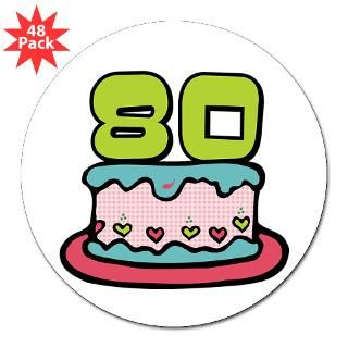 Happy 80Th Birthday Stickers  Car Bumper Stickers, Decals