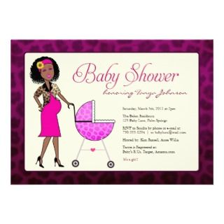 African American Baby Shower Custom Invitations