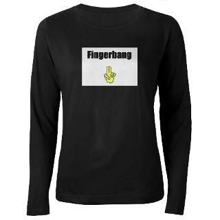 Fingerbang Womens Long Sleeve Dark T Shirt