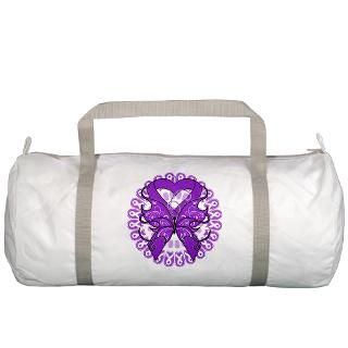 Lupus Butterfly Ribbon Gym Bag by hopeanddreams