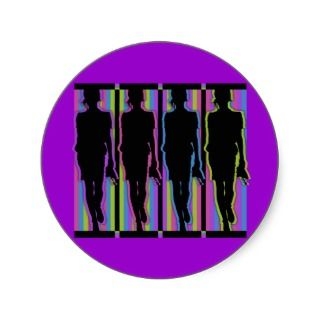 Fashionable Models in Silhouette Sticker