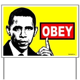anti obama obey yard sign $ 20 99