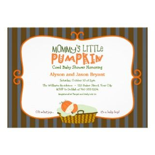 Mommys Little Pumpkin Baby Shower Invitations