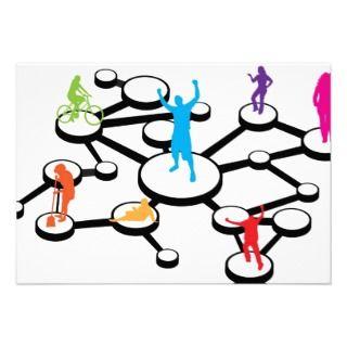 Social Media Connections Diagram Custom Invitation