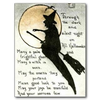 Halloween Witch / Witches Quote / Poem / Spell Post Card
