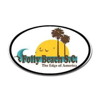 Folly Beach Stickers  Folly Beach Bumper Stickers –